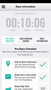Time till race while waiting for a table.